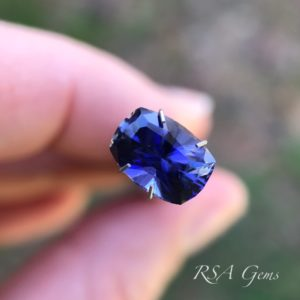 iolite faceted colored gemstone
