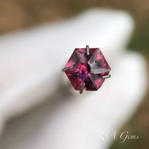ruby faceted colored gemstone