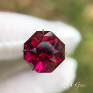 Rubellite, tourmaline colored precious gemstone