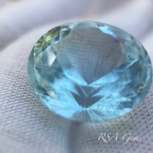 Aquamarine faceted colored gemstone