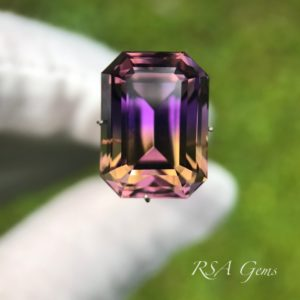 Ametrine faceted colored gemstone
