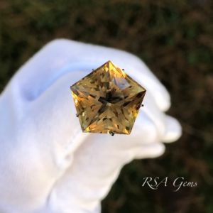 Citrine colored gemstone