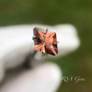brown zircon faceted colored gemstone