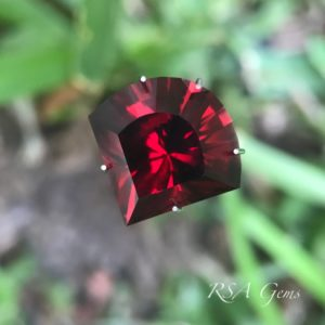 Malawi garnet faceted colored gemstone