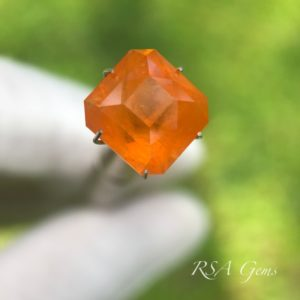 spessartine garnet faceted colored gemstone