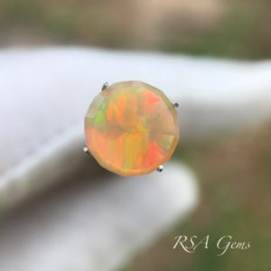 opal faceted colored gemstone