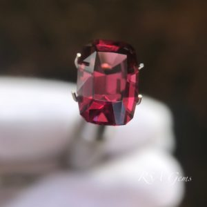 red spinel faceted colored gemstone