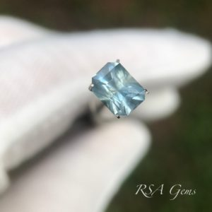 Montana sapphire faceted colored gemstone