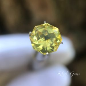 yellow sapphire faceted colored gemstone