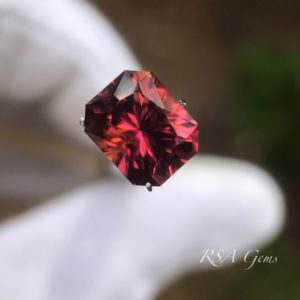 pink tourmaline, faceted colored gemstone
