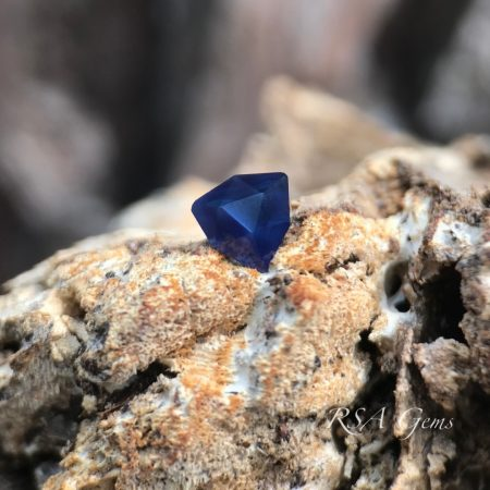 Sapphire, faceted colored gemstone