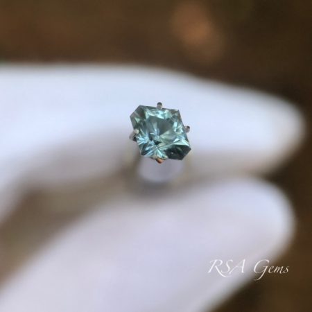 sapphire faceted colored gemstone