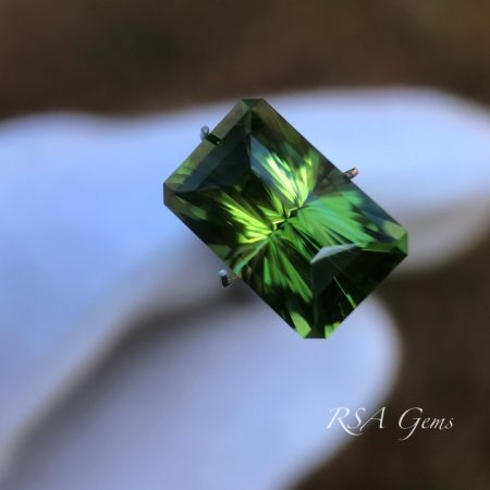 Tourmaline faceted colored gemstone