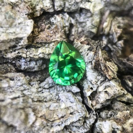 Tsavorite faceted colored gemstone